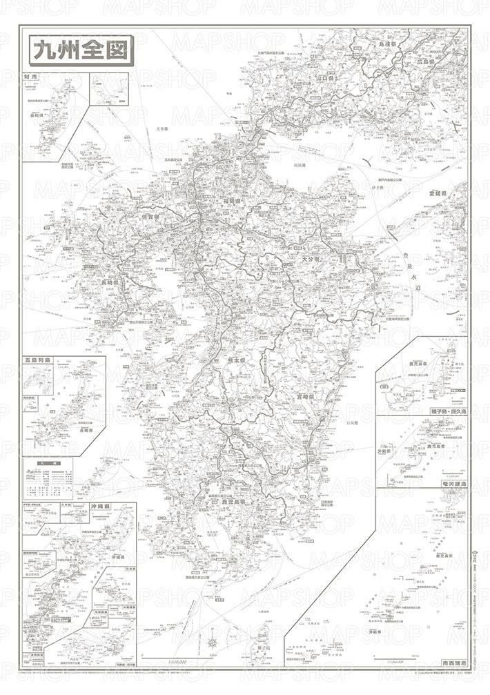 白地図 九州 白地図 フリー : 九州全図 地方別白地図 ...