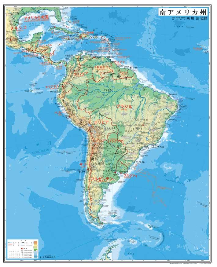 南アメリカ州図 中判 ( パネル ... : 日本白地図地方別 : 日本
