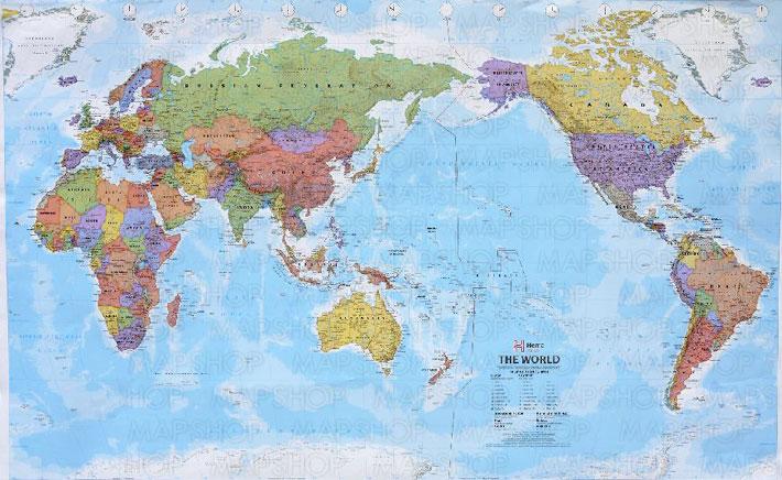 The World Pacific ( 中 ) 世界地図 ... : 白地図 印刷 : 印刷