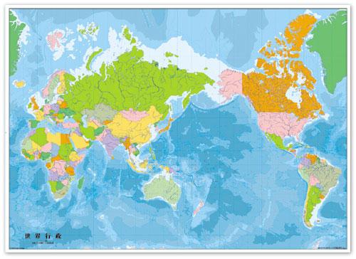 世界地図 行政 マグシート 世界地図 地図のご購入は地図