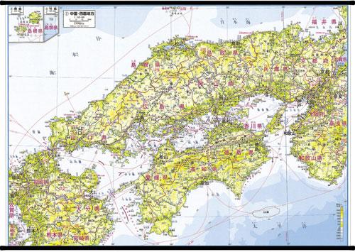 ... 地方別地図 中国・四国地方 : 中国地方 地図 : すべての講義
