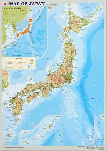 map of japan 東アジア 日本 英文 マップハウス 地図のご購入は