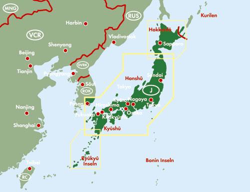 Japan 東アジア-日本 (英文) F&B ... : 白地図 世界 無料 : 無料