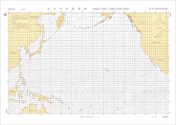 北太平洋_北太平洋海流図 10,11,12月分 海流図 / 地図のご購入は「地図の ...