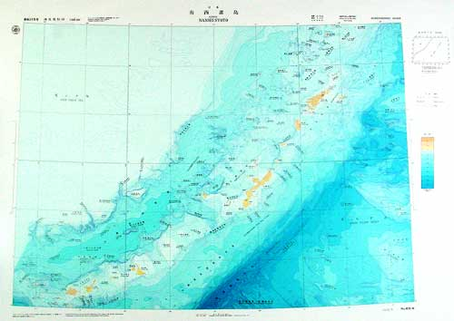 南西諸島 画像を拡大する 南西諸島 大陸棚の海の基本図 - 海底地形図 63... 海底地形図