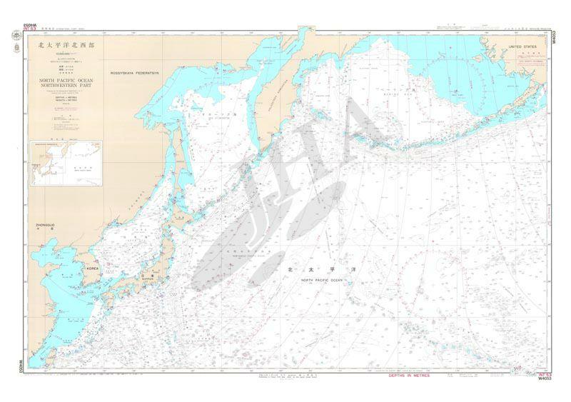 北太平洋_北太平洋北西部 航海用海図 - 世界 / 地図のご購入は「地図の ...