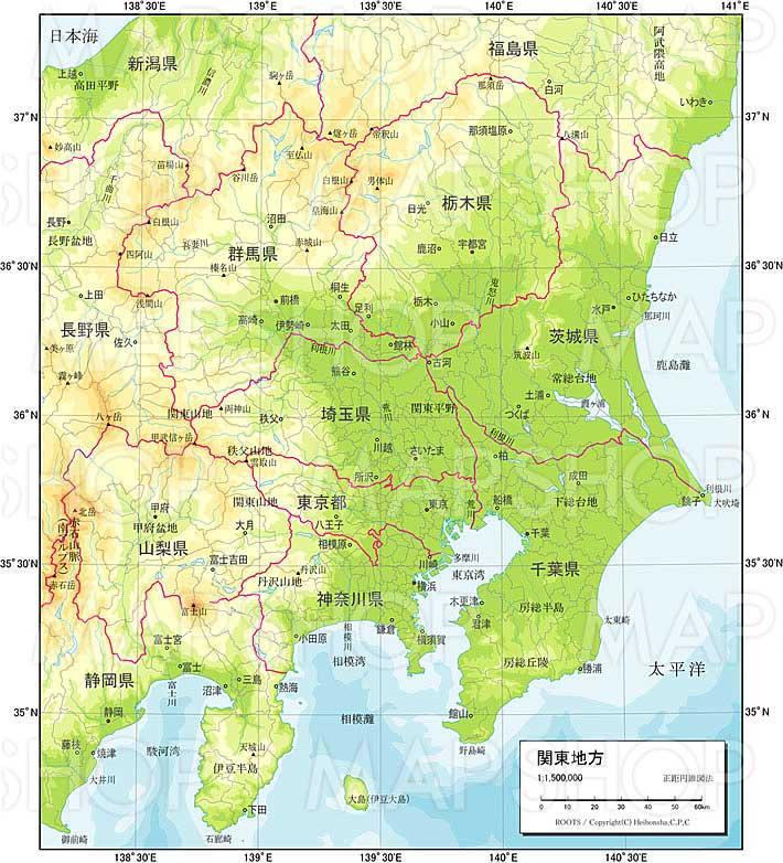 関東地方 自然図 ROOTS JAPAN PR...