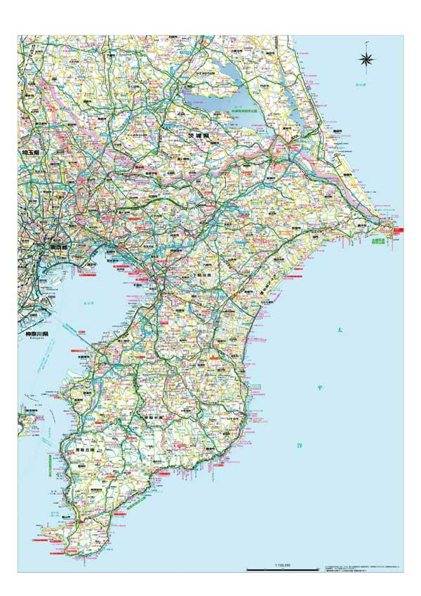 千葉県全図 ビニール加工 ... : 世界地図 ポスター : 世界地図